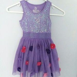 ADORABLE Floral & Sequin Dress